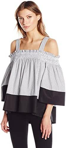 KENDALL + KYLIE Women's Off-Shoulder Smocked Top