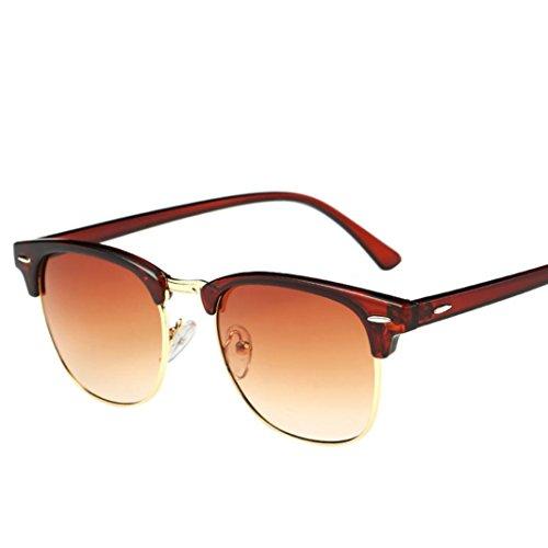 Lunettes De Soleil Covermason Hommes femmes carré Vintage en miroir lunettes de soleil lunettes Outdoor sport Lunettes (Argent) LCEaCx