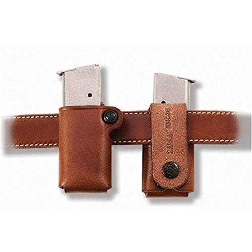 Galco SMC Single Magazine Case for .45, 10mm Staggered Metal and Polymer Magazines Glock, para, H&K, Springfield, S&W (Tan, Ambi)