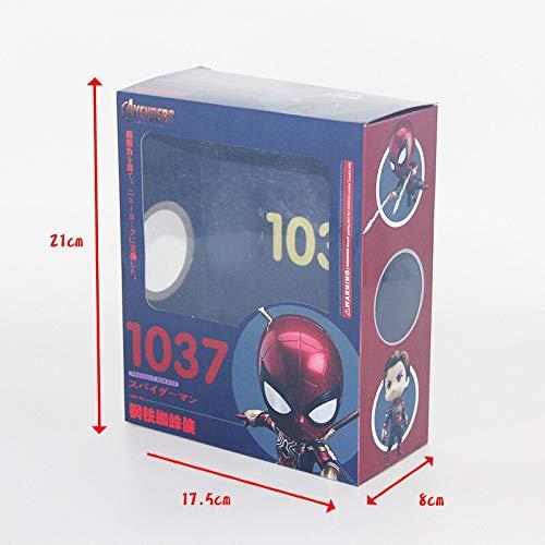 JOYCOS 新ホット! 10 センチメートルスパイダーマンねんどろいど 1037 アベンジャーズ無限大戦争アイアンスパイダーマンスーパーヒーロー PVC アクションフィギュア模型キッズおもちゃギフト
