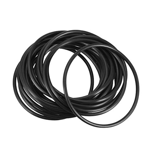 uxcell O-Rings Nitrile Rubber, 68mm Inner Diameter, 75mm OD, 3.5mm Width, Round Seal Gasket 20pcs ()