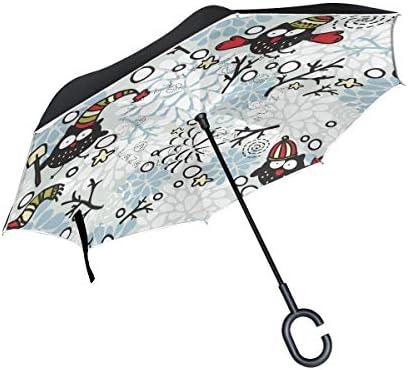 ISAOA - Paraguas Plegable de Doble Capa (protección contra el ...