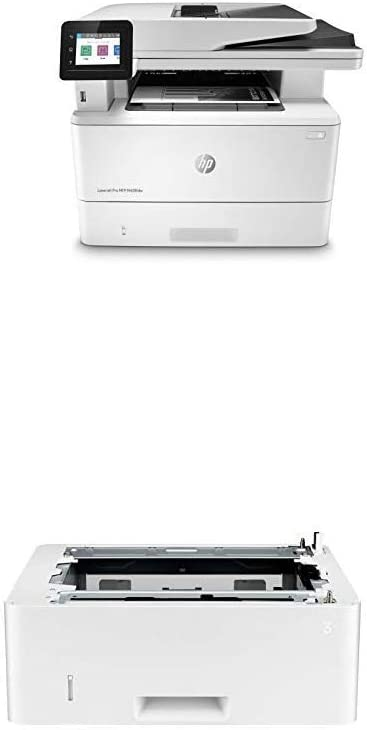 HP Laserjet Pro Multifunction M428fdw Wireless Laser Printer (W1A30A) with Additional 550-Sheet Feeder Tray (D9P29A)