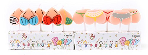 ICASA Funny Bikini Birthday Candles, Party Cake Candles Cake Topper Decor, 10-Pack 2.5 inch Celebration Party Candle by ICASA