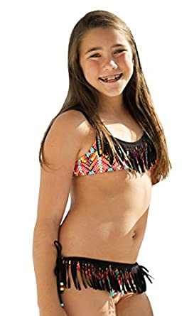 Amazon.com: Point Conception Sport Top with Fringe Bikini