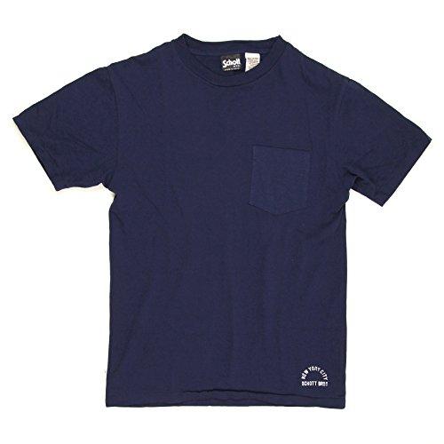 革命的ダイヤモンド汗(ショット) Schott クルーネック?ポケットTシャツ 3133035