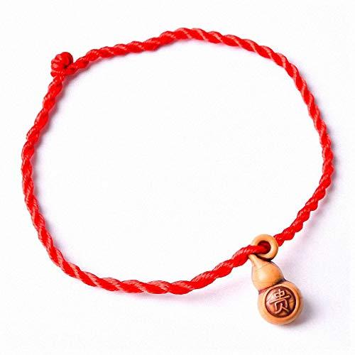 Womens Bracelet Fashion Two Fish Hamsa Evil Eye Charm Red String Rope Braided Thread Heart Bracelets for Women Men Lover Couple Mom Gift Jewelry Gourd Hulu ()