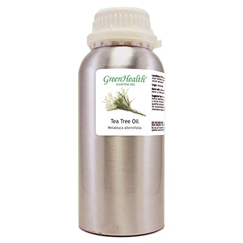GreenHealth Tea Tree – 32 fl oz (946 ml) Aluminum Bottle w/Plug Cap – 100% Pure Essential Oil