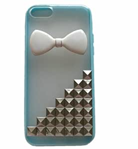 Shapotkina Punk Style Cellphone Protective Cover for Iphone 5C Case with White Bow Tie+Westlinke Logo Stylus