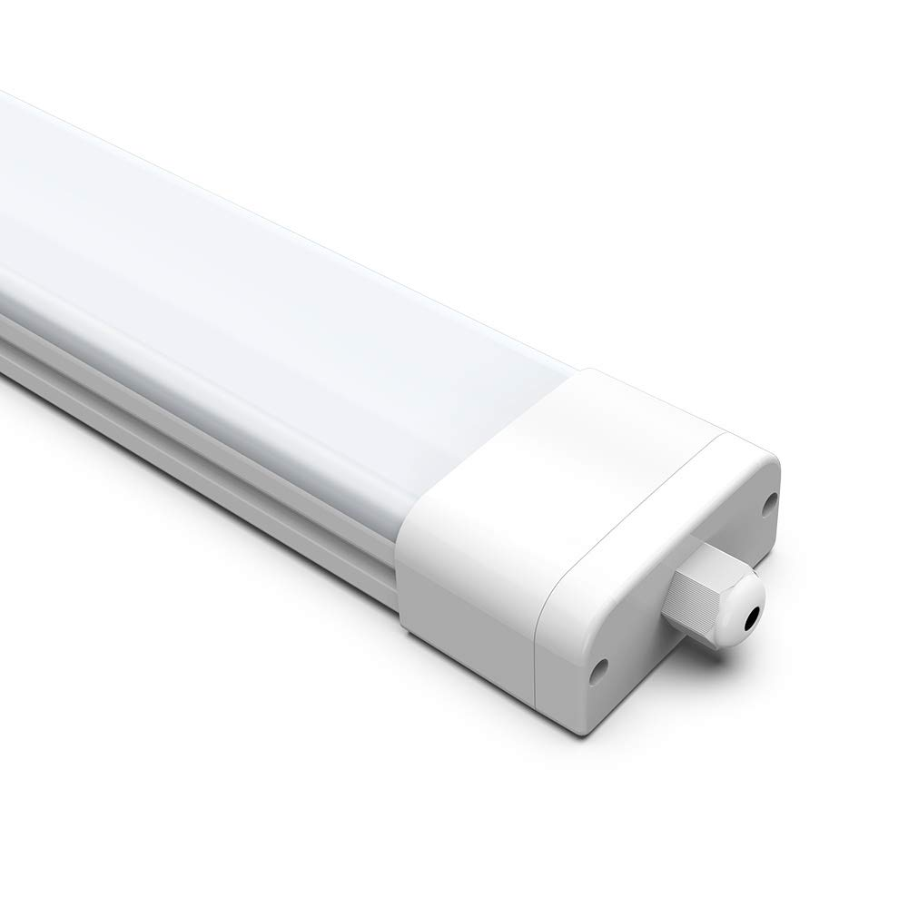 Tube Ampoule LED Blanc Neutre 4000K 2/×120CM Tube N/éon LED Lampe sur Plafond Anti-Poussi/ère Anti-Corrosion et Anti-Choc 36W Plafonnier N/éon Tube LED /Étanche IP65