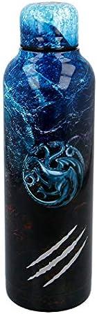 Stor Juego DE Tronos | Botella de Agua Reutilizable de Acero Inoxidable | Cantimplora Termo con Doble Aislamiento para 12 Horas de Bebida Caliente y 18 Horas de Bebida Fría - Libre BPA - 515 ml