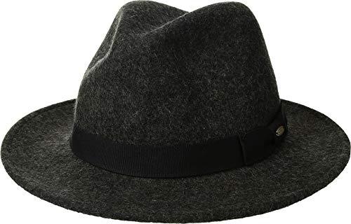 SCALA Men's Crushable Wool Felt Safari Charcoal XL (7 1/2-7 5/8) - Scala Wool Safari Hat