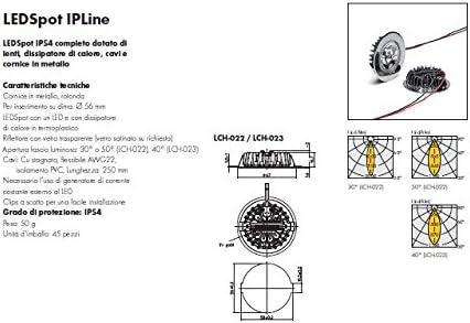 Foco empotrable LED para campanas aspiración y muebles IP54 abrazadera blanca 3 K Ref.564770: Amazon.es: Iluminación