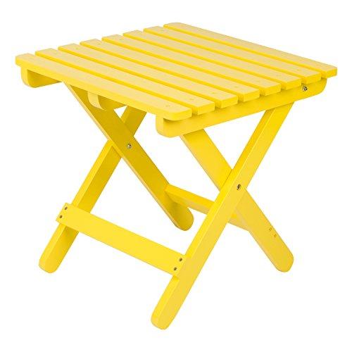 (Shine Company Inc 4109LY Square Folding Table, Lemon Yellow)