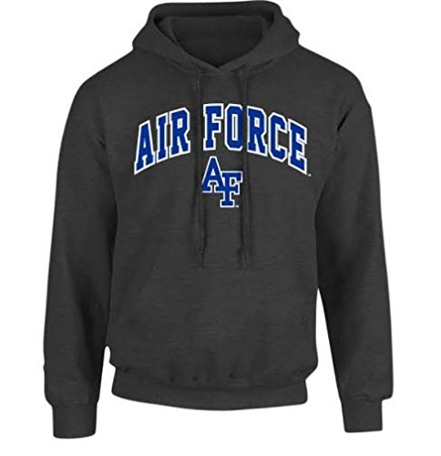 Air Force Hoodie Sweatshirt (Air Force Falcons Hooded Sweatshirt Charcoal - XXL)