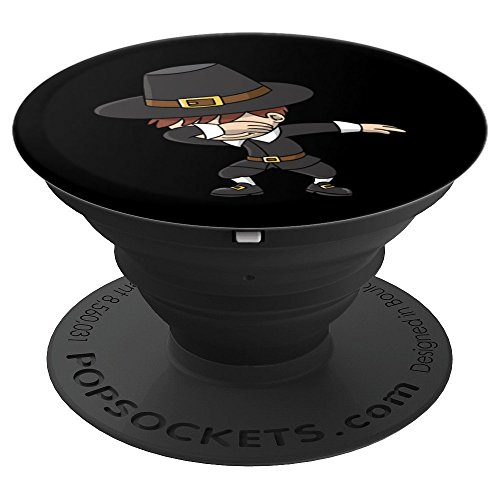 Dabbing Pilgrim Boy Thanksgiving - PopSockets Grip and Stand for Phones and Tablets