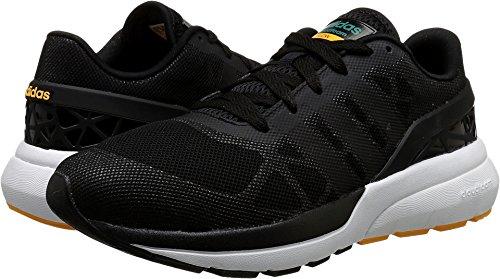 adidas NEO Men's Cloudfoam Flow Shoe,Black/Black/Equipment Green,8 ...