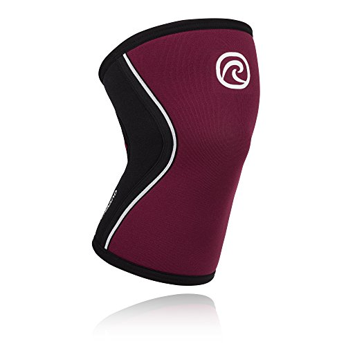 Rehband Rx Knee Support 5mm - Medium - Burgundy - Expand Your Movement + Cross Training Potential - Knee Sleeve for Fitness - Feel Stronger + More Secure - Relieve Strain - 1 Sleeve