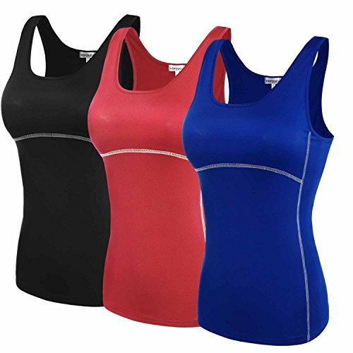 HOTOUCH Big Girls 3 Pack Racerback Tank Tops XL