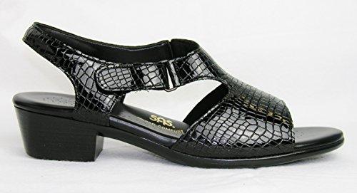 Sas Vrouwen Suntimer Open Teen Ongedwongen Ankle Strap Sandalen Beige Croc