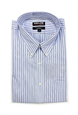 Kirkland Signature Men's Traditional Fit Button Front Long Sleeve Shirt