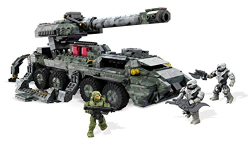 Mega Bloks DPJ94 Toy - Halo Wars 2 - UNSC Kodiak Siege Cannon 868 Piece Figure Playset