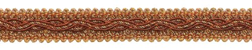 DecoPro 5 Yard Value Pack - RUST GOLD Baroque Collection Gimp Braid 7/8