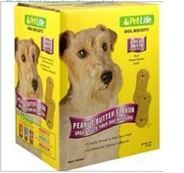 Pet Life Large Peanut Butter Biscuits For Dogs, 4-Pound ()