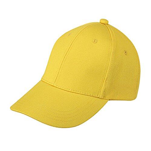 SODIAL(R) Giallo Estate Bambini Plain dei ragazzi delle ragazze del cappello dei bambini Junior berretto da baseball 042597A4