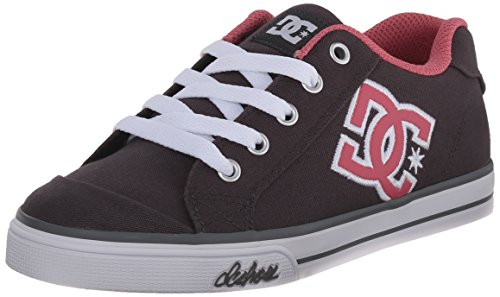 DC Chelsea TX Youth Shoes Skate Shoe (Little Kid/Big Kid), Armor/Pink, 2 M US Little - Dc Kids Chelsea Shoes