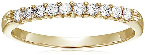 (Vir Jewels 1/4 cttw Diamond Wedding Band in 14K Yellow Gold In Size 5.5)