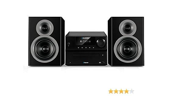 Blaupunkt MS35BT Sistema de Audio para el hogar Negro 40 W - Microcadena (Negro, 1 Discos, 40 W, De 2 vías, PLL, LED)
