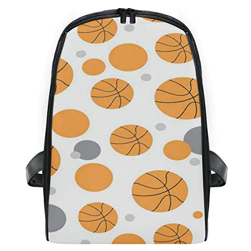 Roll Pattern Basketball School Backpack For Boys Kids Preschool School Bag Toddler Bookbag ()