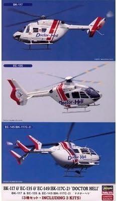 ハセガワ 1/72 ドクターヘリ BK-117 & EC-135 & EC-145 BK-117C-2 3機セット プラモデル 02063