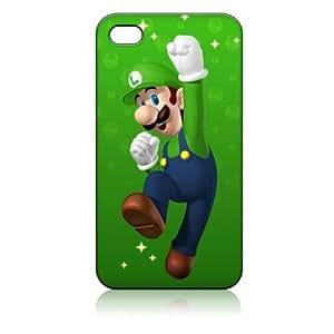 Creative Luigi Super Mario Bros Hard Iphone 4 4s Case White Pc Cover