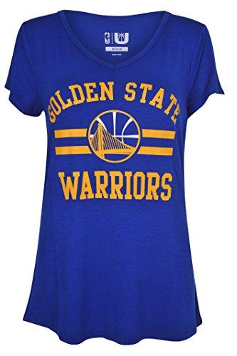 NBA Women's Golden State Warriors T-Shirt V-Neck Relaxed Fit