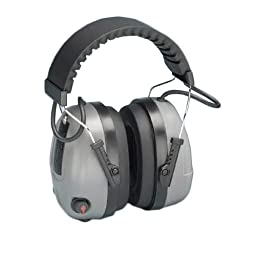 Elvex COM-655 Electronic Non-Foldable Ear Muffs with Impulse Filter & 3.5mm Audio Input Jack, 25 dB NRR, Weight: 12.8 oz.