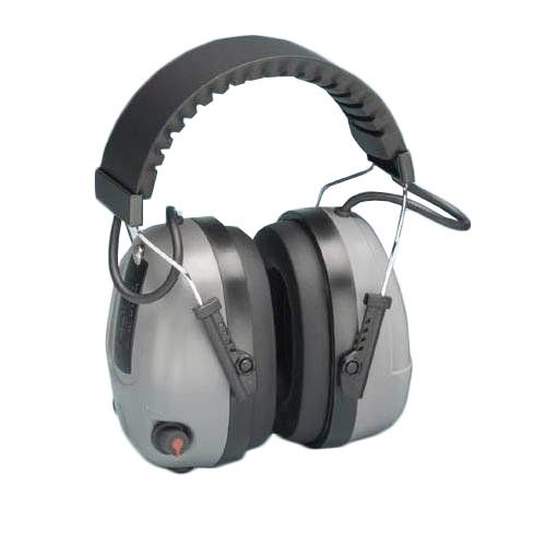 Elvex COM-655 Electronic Non-Foldable Ear Muffs with Impulse Filter& 3.5mm Audio Input Jack, 25 dB NRR, Weight: 12.8 oz.