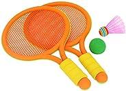 BESPORTBLE 1 Set Colored Badminton Racket Kids Training Outdoor Sports Leisure Toys Badminton Set for Kids Chi