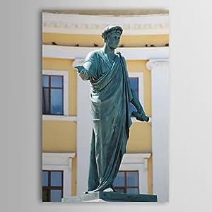 """Impresión de Lienzo estirada ShangdefengTM del paisaje de la ciudad de Odessa escultura de arte, 16"""" x 24"""""""