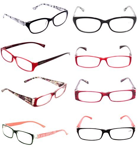 Fashionable Ladies READING GLASSES Lot 3 Pack Optical Clearance Women's EYEGLASSES Styles Plastic +2.50 by - Clearance Eyeglasses