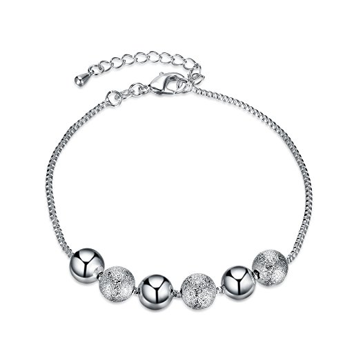 Sterling Silver Plated Ball Oval Cable Chain Charm Bracelet Mother Gift (C) by Mrsrui