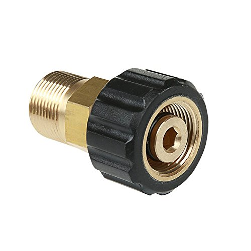 NUZAMAS High Pressure Washer Connector M22 to M15 Thread Brass Internal Thread Hose Pipe Connecting Parts