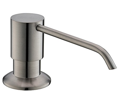 Commercial Stainless Steel Bar Bath Kitchen Pump Liquid Brushed Nickle Kitchen Sink Soap Dispenser, for Bathrom and Kitchen counertop