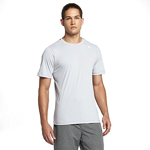 Hurley Men's Dri-Fit Icon Surf Shirt Wolf Grey Shirt (Hurley Icon)