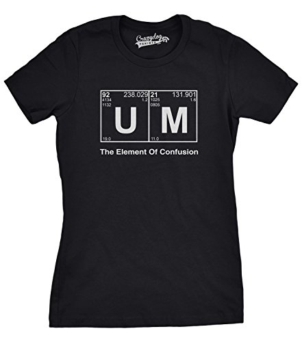 Crazy Dog TShirts - Women's Element Of Confusion T Shirt Funny Ummm Shirt Elements Tee For Women - Divertente Donna Magliette