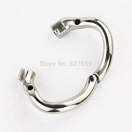 2018 Super Small Male Stainless Steel Cage with with arc-Shaped Ring Men Belt,38mm Ring by Little Sophie (Image #9)