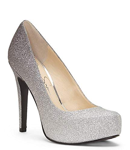 (Jessica Simpson Womens Parisah Pointed Toe Classic Pumps, Silver, Size)