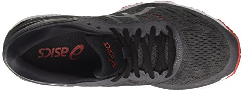 US Shoes Fiery Dark 5 Kayano Grey Gel 24 9590 Mens D Running Asics 11 Black Red Xaxwqn