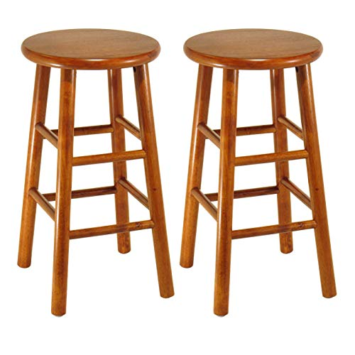 (Winsome Wood 75284 Tabby Stool, 24-Inch, Cherry)